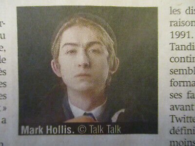 ARTICLE belge SUR MARK HOLLIS, LE LEADER DE TALK TALK S'ETEINT 64ANS- 26/02/2019