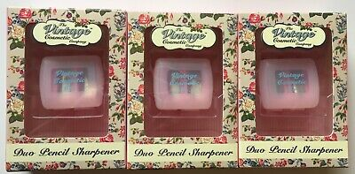The Vintage Cosmetic Company - Duo Pencil Sharpener x 3