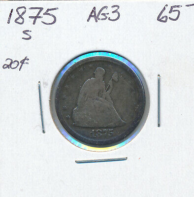 Usa 20 Cents 1875S - Ag