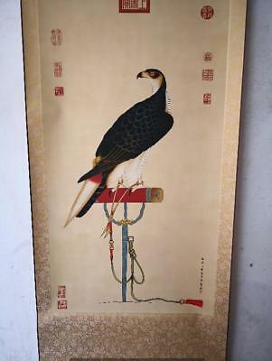 Details about  Rare antique chinese museum painting scroll Eagle by