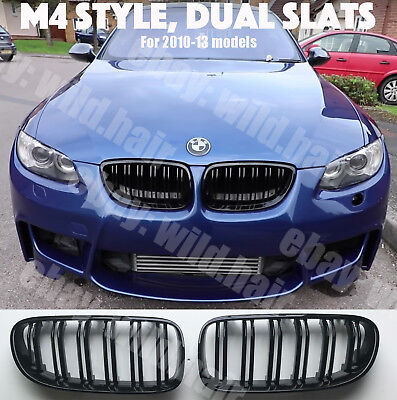 2010+BMW e92/e93 coupe/convertible,M4 look grille,facelift,gloss black,DUAL SLAT