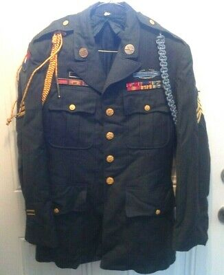 VIETNAM US ARMY INFANTRY Class A Dress Green Coat w/Medals & Dog Tags RARE! READ