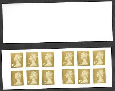 Forgery of 12 x 1st class Machin self adhesive booklet. NOT valid for postage.