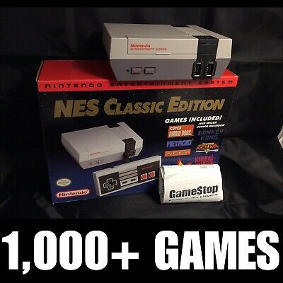 NES Classic Nintendo Mini Edition 1000+ Games! Quick Reset Mod! Fast Shipping!