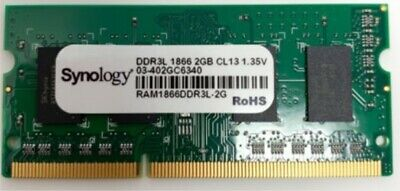 RAM pour NAS Synology RAM1866DDR3LSO-2G - 2 GO - 2 GB