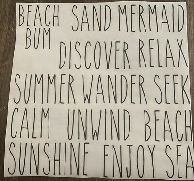 Rae Dunn Inspired Summer Beach Vinyl Decals