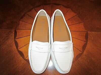 b90d9e3c1ad NEW Boemos Made In Italy Womens Leather Loafers Shoes White Color Sz 8-USA