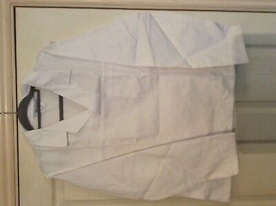 "Alexandra white Lab / catering ect Thick smock top W12 size 45.5"" chest"