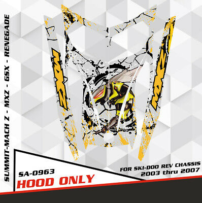 SLED WRAP GRAPHICS KIT DECAL STICKERS SKI-DOO REV MXZ SNOWMOBILE 03-07 SA0302