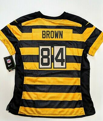 reputable site 349f6 abf23 NEW! NIKE PITTSBURGH Steelers Antonio Brown Womens Large Jersey Rare Bumble  Bee