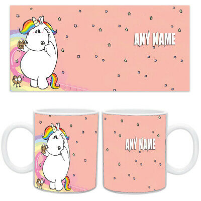 Personalised NAME UNICORN Printed Ceramic Novelty Gift Coffee/Tea Mug Cup - 0009