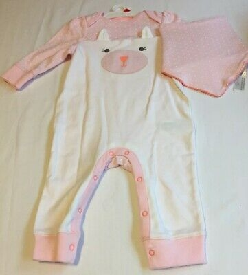 c4d6cbf6d4460 NWT Cloud Island Baby Girl Size 3-6 Months Romper Outfit Pink One Piece