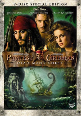 Johnny Depp-PIRATES OF THE CARIBBEAN 2: DEAD MANS CHEST DVD NEUF