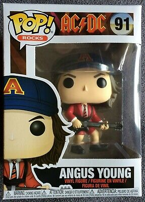 Funko Pop Angus Young With Red Jacket - AC/DC - N°91 Exclusive - Boite Rayée