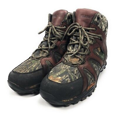 fac0a2010b2 WOLVERINE THINSULATE HUNTING Boots Size 10.5 Camo Mossy Oak Insulated W05697