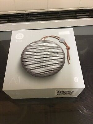Bang & Olufsen (B&O) BeoPlay A1, Bluetooth Speaker, Natural (Silver)