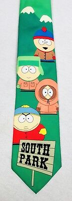 Ralph Marlin 1998 South Park Comedy Central Characters Green Mens Tie FREE SH