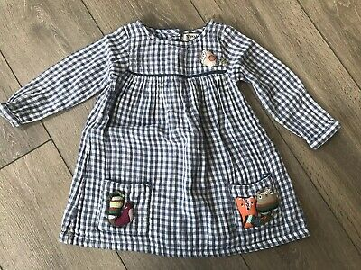 Baby Girls Blue Checked Next Dress Age 18-24 Months