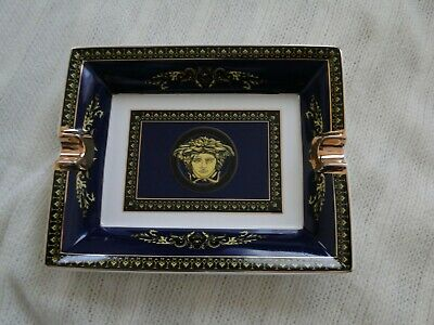 Versace Cigar Ashtray Made In Italy - Rosenthal Excellent Condition In Box