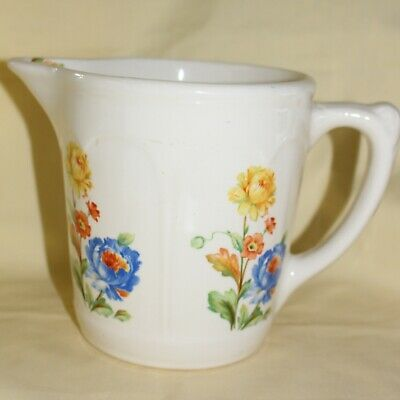 Vintage American Harker Hot Oven 1 Qt Pitcher Oriental Poppies 1940's