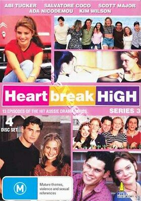 Heartbreak High - Series 3 NEW PAL Cult 4-DVD Set Abi Tucker Salvatore Coco