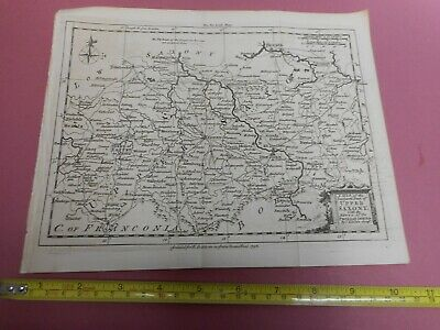 100% Original Upper Saxony Dresden Map By T Kitchin/baldwin  C1756  Low Start