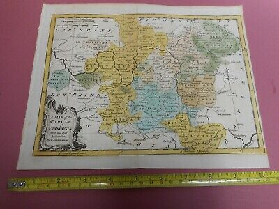 100% Original Franconia  Germany  Map By T Kitchin/baldwin  C1756  Low Start