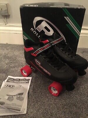 Roller Derby Mens/woman's Viper M-4 Speed Quad Skate,  Black & Red