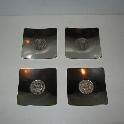 4 Cendriers,coupelles Champagne Deutz,metal,ttbe,vgc,ashtray,aschenbecher,cups