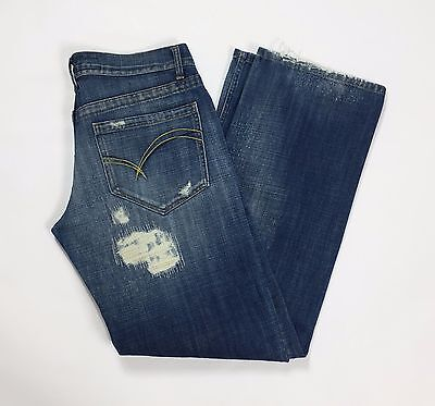 Take two connors w33 L34 tg 46 47 jeans relaxed dritti strappi uomo usati T2035