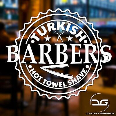 Turkish Barber Shop Sign Barber Shop Salon Window Wall Vinyl Decal Sticker Sign