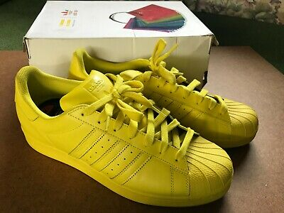 58a849d3 ADIDAS SUPER STAR Pharrell Williams Super Color Yellow Shoes Size Us ...