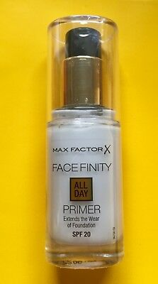 Max Factor Facefinity All Day Foundation Primer - SPF 20 - 30ml - New & Sealed