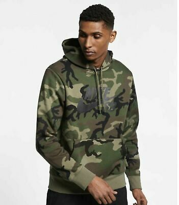 pretty nice high quality recognized brands NIKE SB ICON Men's Camo Skate Hoodie L Pullover Green Black ...