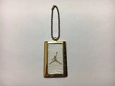 huge selection of cdd82 8239b Nike Air Jordan Hang Tag with chain different dog tags AF-1 Gold Tone