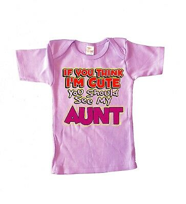 6-12 M Cute Funny Infant Tee Aunt Auntie Saying Saying Baby Shower Gifts