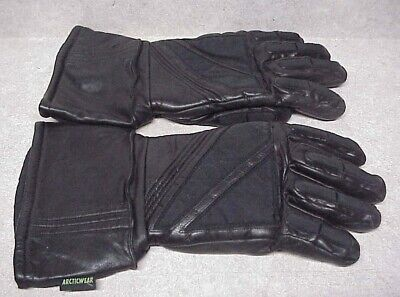 Arctic Cat Adult Insulated Leather Gloves - Black SZ XL