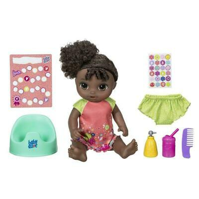 Baby Alive Potty Dance Baby 50+ Sounds + Songs Baby Doll Black Curly Hair New