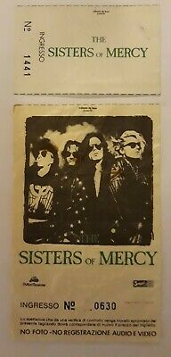 Sisters Of Mercy Rare Ticket Gig Concert Milano 10/03/1991