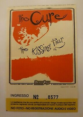The Cure Rare Ticket Gig Concert Milano 01/12/1987