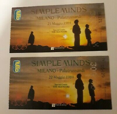 Simple Minds Rare Tickets Gig Concert Milano 1989