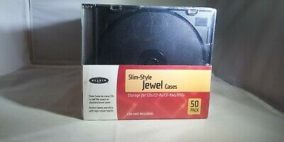 Belkin Slim Style Jewel Cases Case For CD CDs DVD DVDs 50 Pack New and Sealed