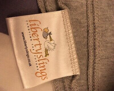 Baby Sling Stretchy Wrap Carrier By Liberty Slings Grey Newborn