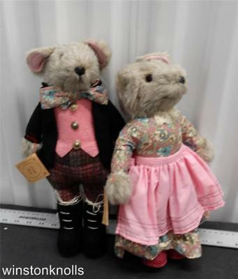 MOUSE LOURIS Boy and Girl set BY THE LITTLE FOLK BEAR COMPANY ENGLAND 13 INCHES