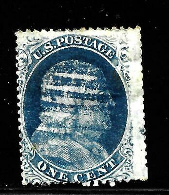 Hick Girl Stamp-Old Classic Used U.s. Sc#24  Franklin,  Issue 1857    X7557