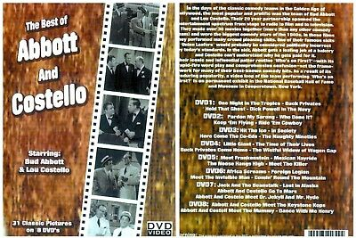 """""""THE BEST OF ABBOTT AND COSTELLO""""(DVD 2010)An 8 DVD Set of All 31 Movies - NEW !"""