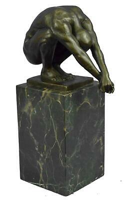 Olympic Man Athlete Swimmer Male Muscular Diver Diving Bronze Sculpure Statue 9.