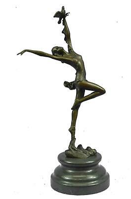 "Bronze Sculpture of Graceful Ballerina Dancer 12.5"" x 5"""