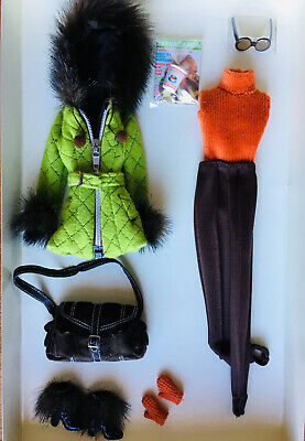 Barbie Silkstone Fashion Model Skiing Vacation Outfit & Accessories NRFB
