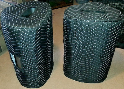 TURBOSOUND Milan M12 Premium Padded Black Speaker COVERS (2)  Qty of 1=1 Pair!